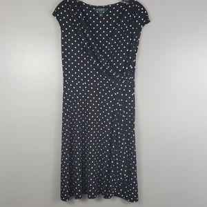 Ralph Lauren polka dot sleeveless dress
